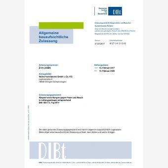 BTV, Absperrvorrichtung gegen Feuer und Rauch in Lüftungsleitungen DIN 18017