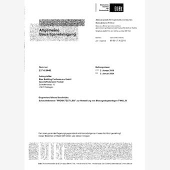 Promatect Schachtelement zur F30 Bekleidung von Abgasanlagen