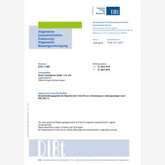 ELS Einrohrlüftungsgerät nach DIN 18017